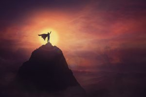 Silhouette of person with cape standing atop a lone mountain. The rising sun illuminates the sky behind them, with them in the center of the sun. Open Pathways Counseling for men in Columbus, OH knows adults with adhd can use their power for good. We offer adhd therapy in columbus, oh, cognitive behavioral therapy for adult adhd, online adhd therapy in ohio, and other services! Contact us today for the support you deserve!